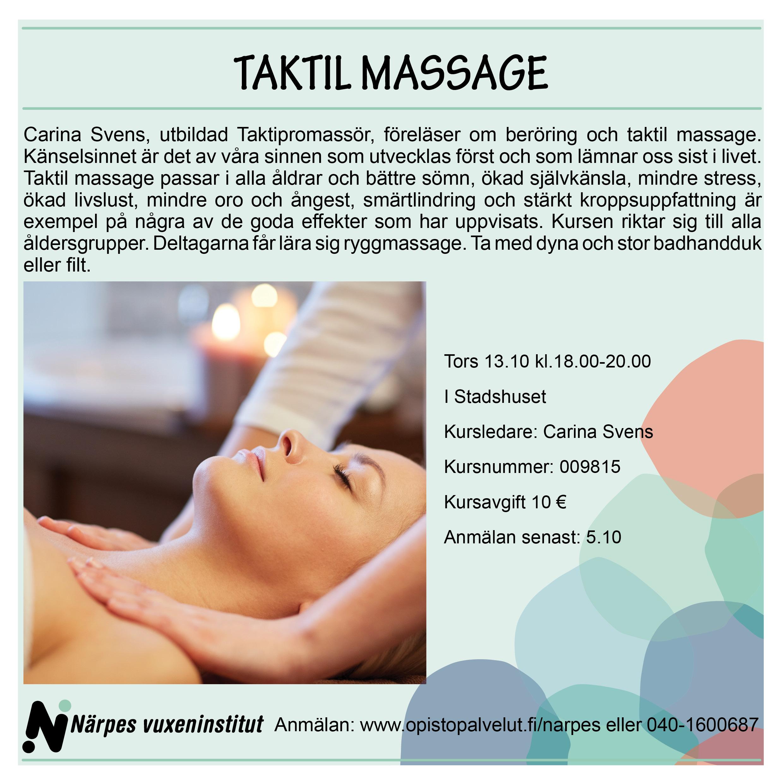 taktil massage utbildning
